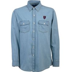 Antigua Men's Real Salt Lake (Blue) Chambray Long-Sleeve Shirt, Size: Medium