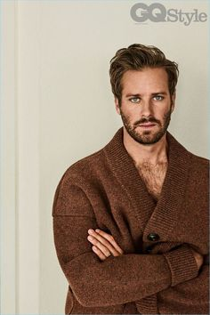 Actor Armie Hammer stars in a photo shoot feature for British GQ Style.