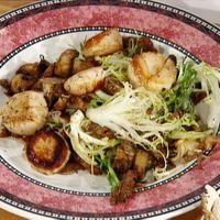 Sauteed Scallops with Wild Mushrooms and Frisee by Food Network