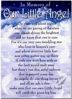 *In memory of our little angel*