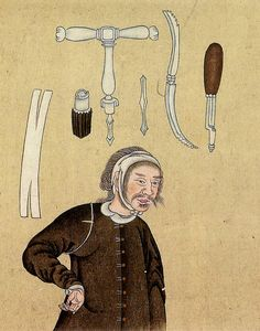 Trepanning instruments, circa 1790