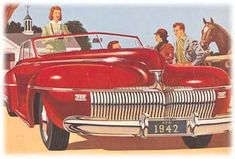 "The end of civilian car production was in sight when the New Yorker's ""Motors and Motoring"" column praised DeSoto's new 1942 Airfoil headlamp covers. The entire frontal treatment, including low-lying, waterfall grill, was described as having ""a solid well-knit look."" The magazine also pointed out Chrysler Corporation's whitewall trim rings offered in lieu of increasingly hard to find white wall tires."