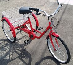 Bicycle three adult female wheel