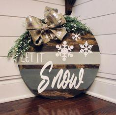 Wooden Door Signs, Front Door Signs, Front Door Decor, Porch Signs, Wood Signs, Front Door Wreaths, Christmas Signs, Christmas Wreaths, Christmas Decorations