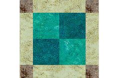 An easy Unequal Nine Patch quilt pattern that's perfect for scrap quilts. Don't miss page 3 if you'd like to use the design to make an entire quilt.
