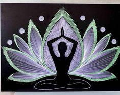 Wall art YOGA LIFE Gold sacred geometry psychedelic wall art Home decor Mandala Zen 3D art New Age spiritual gift meditation