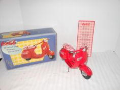 Coca Cola Coke Mini PEDAL SCOOTER 1:6 scale Die Cast Vespa Toy XONEX ED | eBay