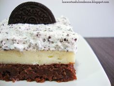 Las recetas dulces de Ana: Oreo cheesecake brownie