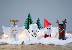 Kerstlandschap van wc rollen