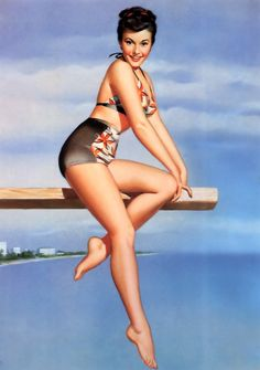 Pearl Frush pin-up girl picture