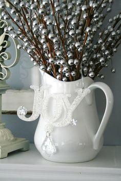mantel decor silver pitcher - Google Search