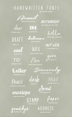 Handwritten Fonts. Bespoke Social Media & Marketing