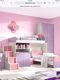 I would love to have this for my room, i would care if it was a bunk bed, I would take out the bottom bed and put a desk there