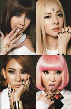 Minzy looks great with the pink hair