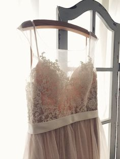 Romantic Peach Backless Boho Lace Wedding Dress Great for by LAmei