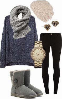 see more Stylish and Comfy Winter Outfit