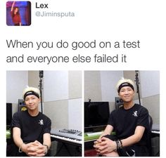 Me with my English final (I got an A+ and most people got a 90 or lower which is bad for advanced)
