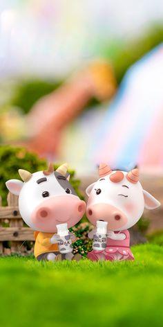 Kawaii Pig, Kawaii Cute, Animated Cow, Year Of The Cow, Cow Wallpaper, Cow Illustration, Cute Piglets, Cute Couple Cartoon, Cute Cows