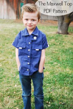 Maxwell Boy Shirt pattern by Shwin & Shwin