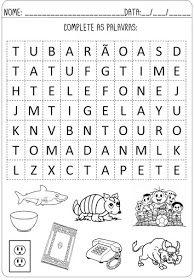 Criar Recriar Ensinar Lily, Words, Elderly Activities, Preschool Literacy Activities, Activity Books, Reading Activities, Worksheets For Kids, Letter C Activities, Note Cards