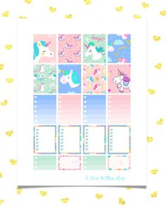 50% OFF SALE/ MAGIC Unicorns Printable Planner Stickers for