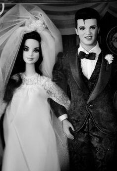 Elvis and Priscilla dolls