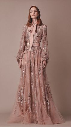 Sequin Embroidered Pussy Bow Blouse by Elie Saab Robes Elie Saab, Elie Saab Dresses, Style Couture, Couture Fashion, Runway Fashion, Elie Saab Couture, Moonlight Couture, Beautiful Dresses, Nice Dresses