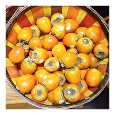 I wait all year for this moment #organic #persimmons #bestdayever