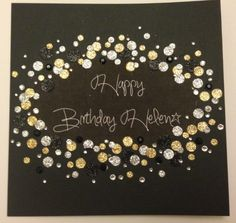 Glitter dots, glamourous birthday card