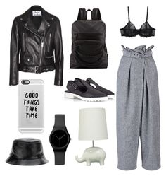 Sporty grunge by sheiscarla on Polyvore featuring polyvore, fashion, style, Acne Studios, STELLA McCARTNEY, La Perla, Miista, Fratelli Karida, Ash, Casetify, Circo, women's clothing, women's fashion, women, female, woman, misses and juniors