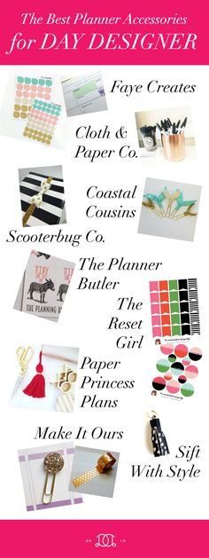 A round-up of the best planner accessories shopsfor Day Designer: stickers, page markers, and more!