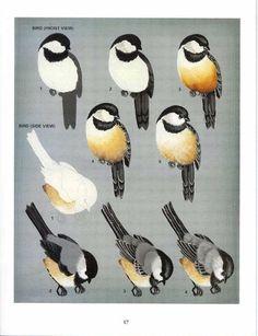 Pássaro cinza e marrom tutorial