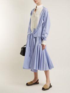 1cdbea5b393 Loewe Asymmetric-collar tie-waist cotton shirtdress Cotton Shirt Dress