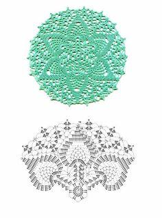 Doily crochet diagram