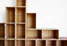 Cardboard Projects DIY Cardboard Projects - Bob Vila perfect for my craft closet redo! do not have to buy expensive cubes!DIY Cardboard Projects - Bob Vila perfect for my craft closet redo! do not have to buy expensive cubes! Diy Cardboard Furniture, Cardboard Storage, Cardboard Crafts, Craft Storage, Diy Furniture, Storage Ideas, Storage Units, Diy Storage Boxes, Cardboard Display