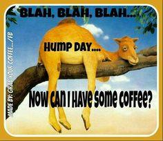 Blah Blah Blah Hump Day Can I Have Coffee good morning wednesday hump day…