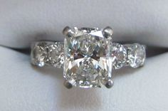 Diamond Engagement Ring Radiant 2.25tcw Radiant Engagement Rings, Engagement Ring Buying Guide, Wedding Day, Wedding Rings, Radiant Cut, Wishful Thinking, Diamond Are A Girls Best Friend, Bling Bling, Diamond Rings
