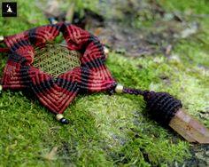 Sacred Geometry Macrame Mandala Necklace, Seed of Life Macrame Pendant, Macrame Mandala Pendant, ooak mandala necklace Crystal point Macrame by TheTomentosaShop on Etsy