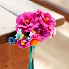 DIY Instructions on how to make these beautiful crepe paper flowers.