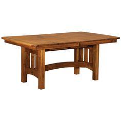 Dining Tables | Dining | Amish Custom Furniture - Henrico, VA White Oak Dining Table, Trestle Dining Tables, Dining Room Table, Kitchen Tables, Dining Area, Kitchen Ideas, Amish Furniture, Solid Wood Furniture, Custom Furniture