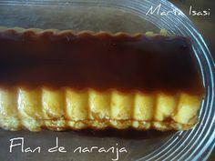 ENTRE MANTELES: FLAN DE NARANJA