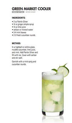 GREEN MARKET COOLER   Patrón Tequila