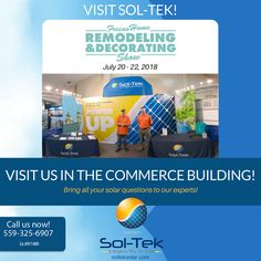 We're excited to share that we'll be at the upcoming Annual Fresno Home Remodeling & Decorating Show July Visit us in the Commerce Building to learn how to save electricity and reduce your bills!