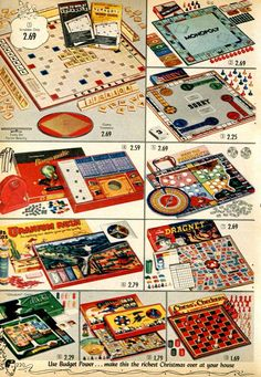 Vintage Board Games from a 1955 Spiegel catalog