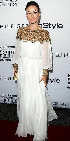 Olivia Wilde in a Greek Gown
