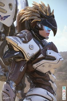 Samira, Rafael Benedicto on ArtStation Girl Inspiration, Character Inspiration, Character Design, Robot Concept Art, Armor Concept, Warrior Girl, Fantasy Warrior, Killzone Shadow Fall, Future Soldier