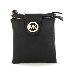 Michael Kors Fulton Pebbled Large Black Crossbody Bags