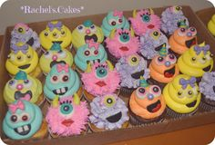 Girly monster cupcakes! :)