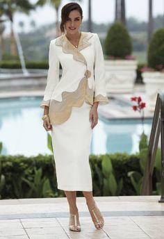Golden Swirl Suit from Midnight Velvet®