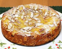 Lemon Almond Torta, I made this tonight and it is delicious. I am not even a lemon fan. Try it. It is somewhat simple. Only advice I give is if you have a gas oven drop the temp to 325.